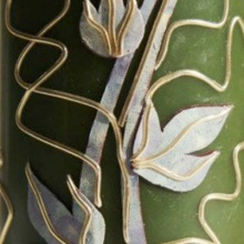 Decorative candle - ivy