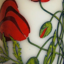 Decorative candle - poppies (2)