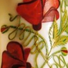 Decorative candle - poppies (3)