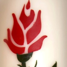 Decorative candle - rose