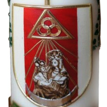 Candle with coat of arms - bishop Szal