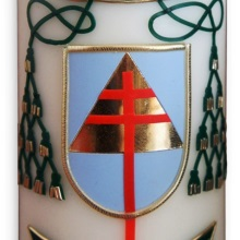 Candle with coat of arms - bishop Budzik