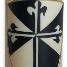 Candle with coat of arms - dominican order