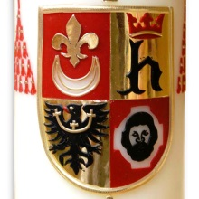 Candle with coat of arms - cardinal Gulbinowicz