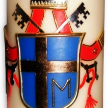 Candle with coat of arms - John Paul II