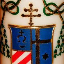 Candles with coat of arms