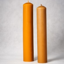 Beeswax pillar candle small - 5,5 cm x 32 cm. Big 6 cm x 34 cm